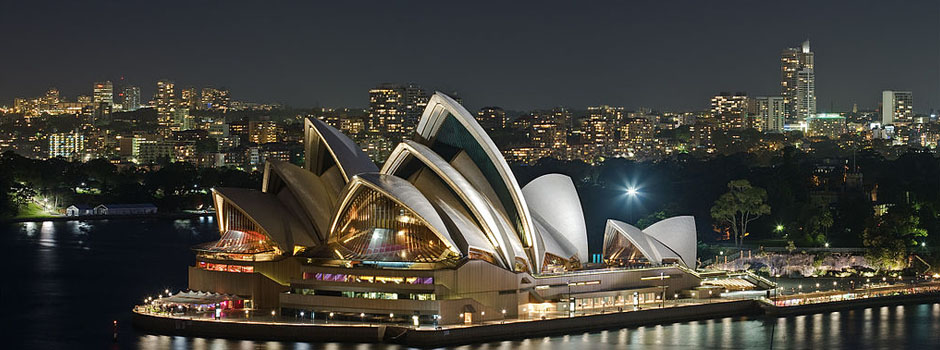 Family Law - View of Sydney, Australia's Night and Harbourfront Opera House