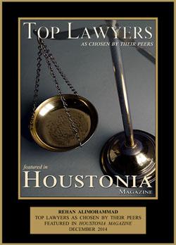 Houstonia Magazine Award - Rehan Alimohammad